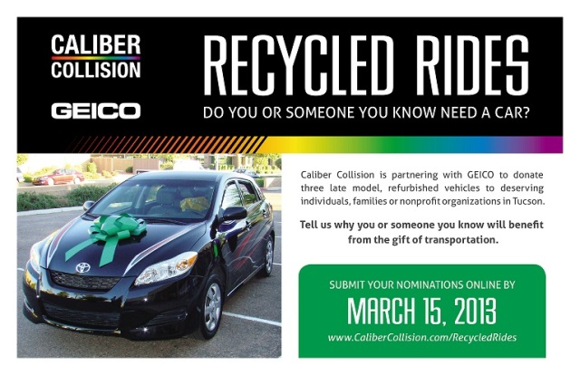 Caliber-GEICO Recycled Rides Nomination