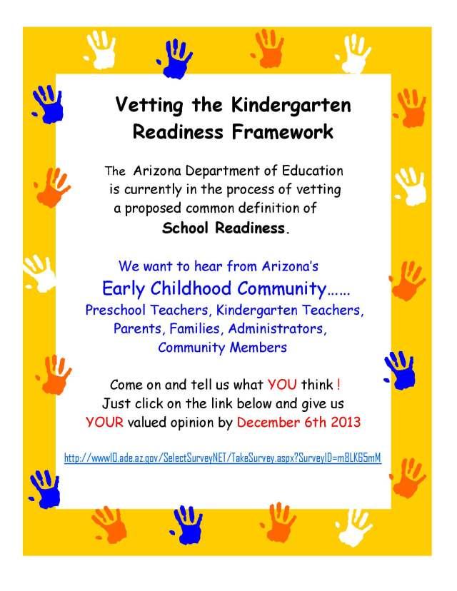 Online Kindergarten Vettings Flyer