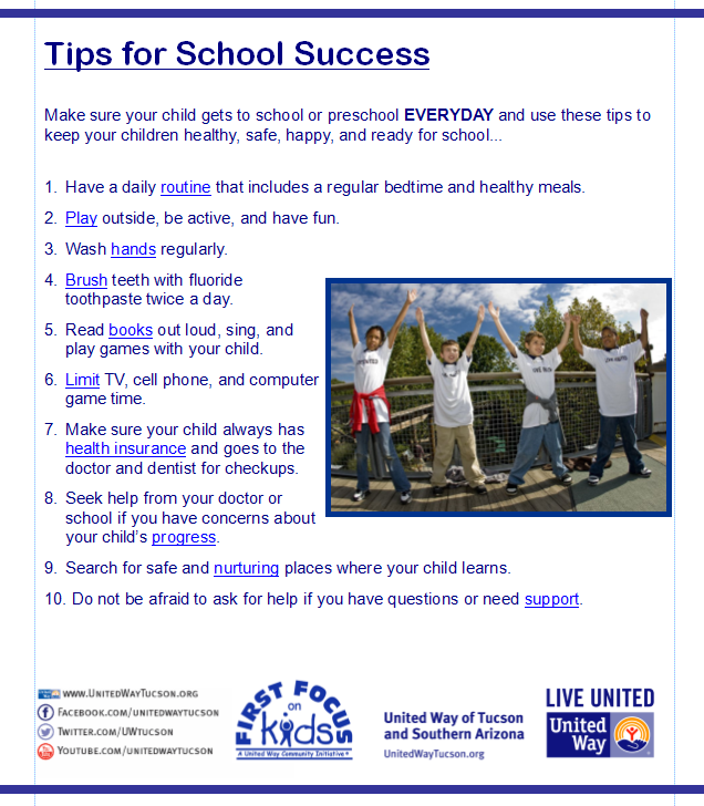tips for school success