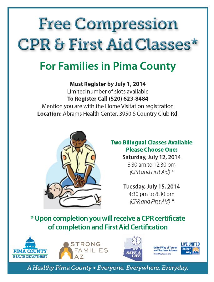 Free Compression Cpr First Aid Classes For Families In Pima County
