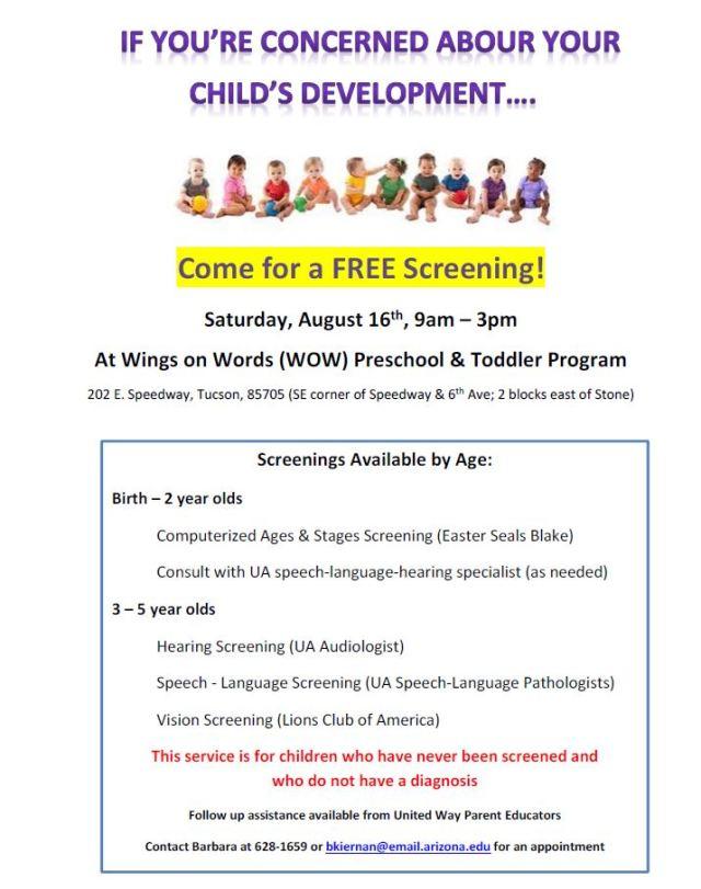 developmental screenings