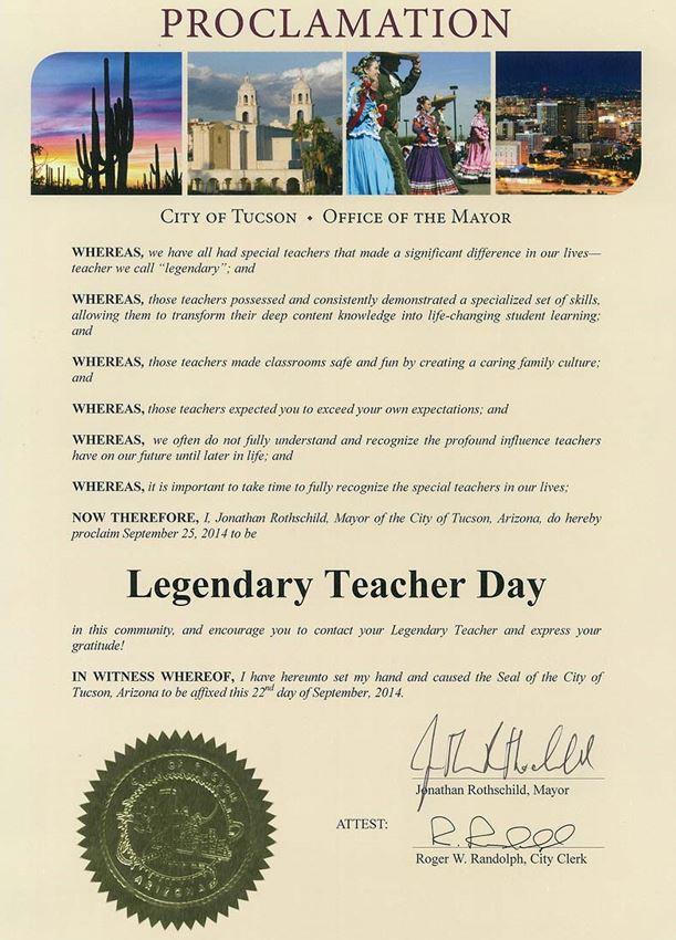 legendary teacher day