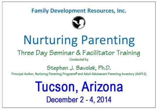 nurturing parenting seminar