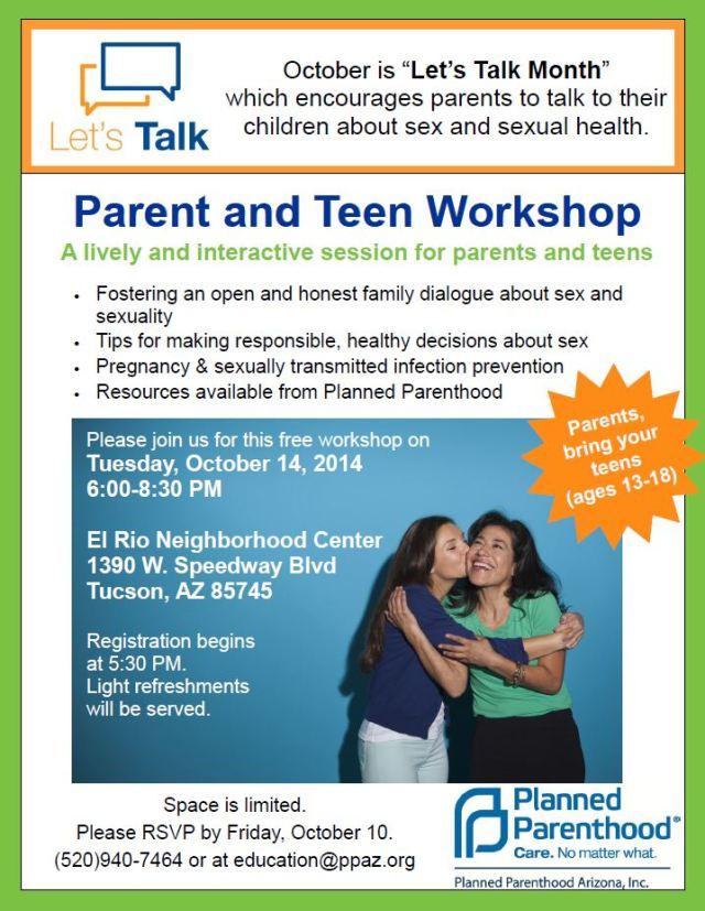 parent teen workshop
