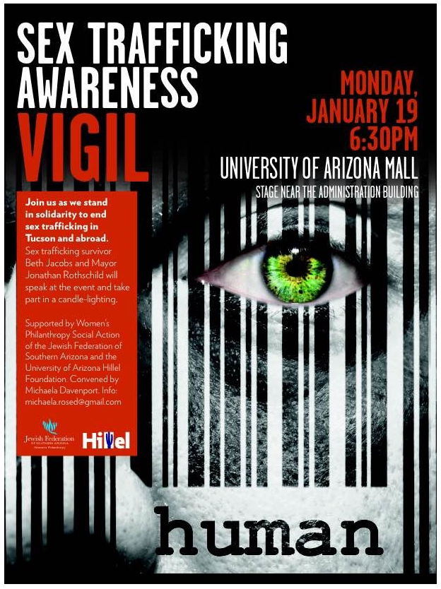 sex trafficking vigil