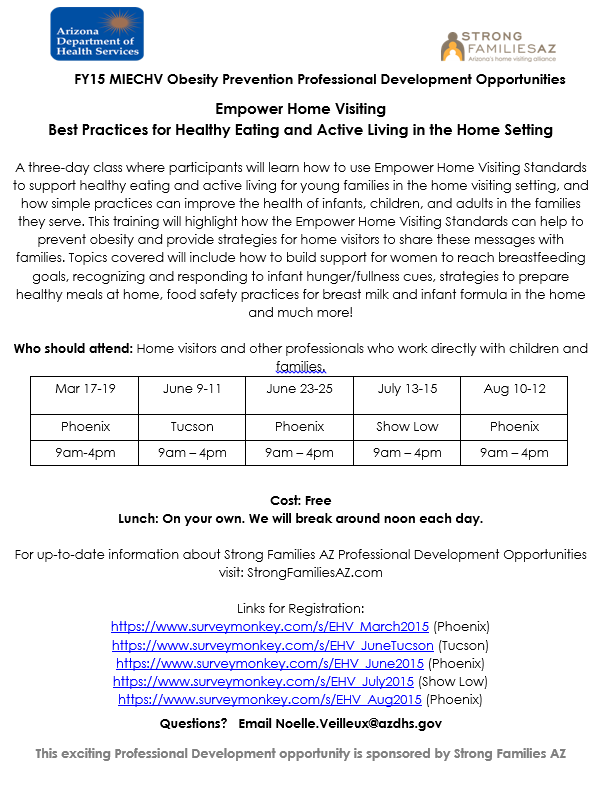 Empower Home Visiting flyer