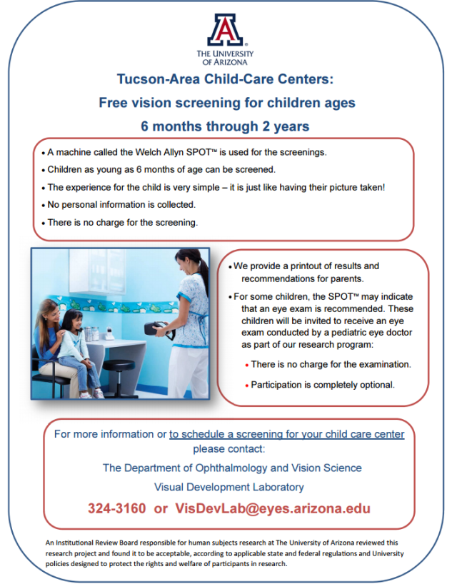 Free Vision Screening Flyer