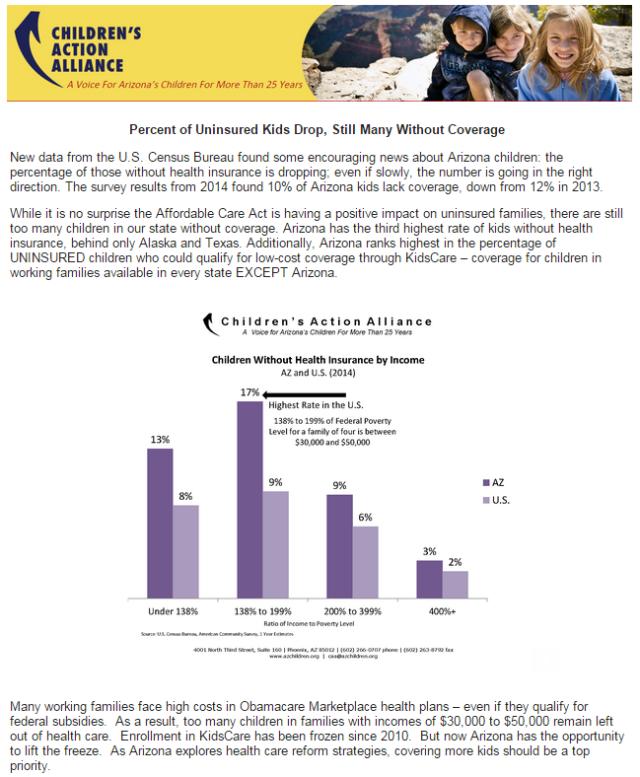 Uninsured Kids data
