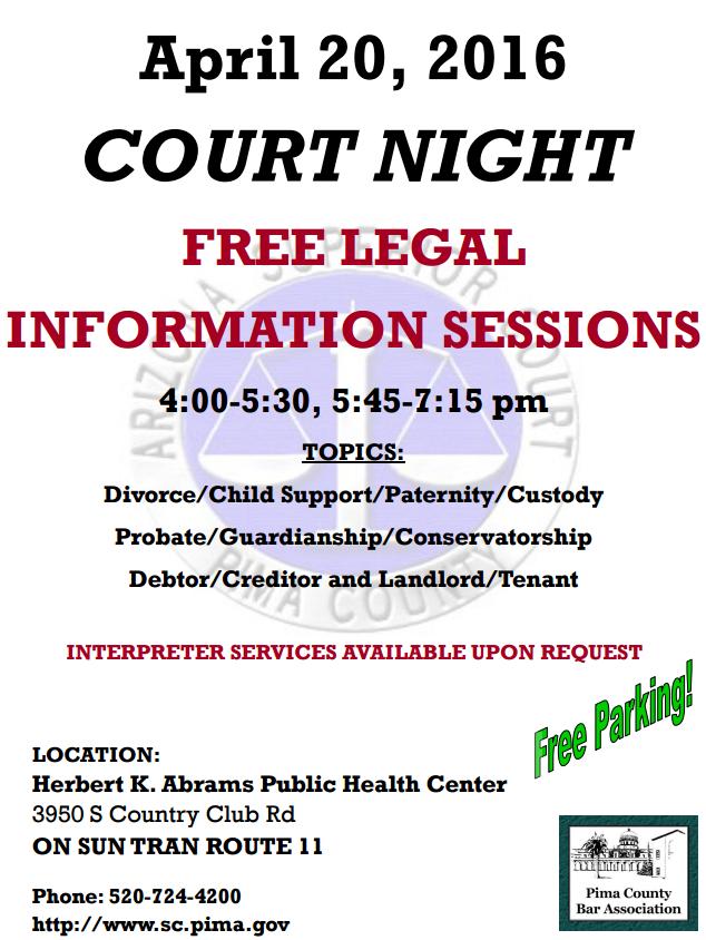 Court night flyer