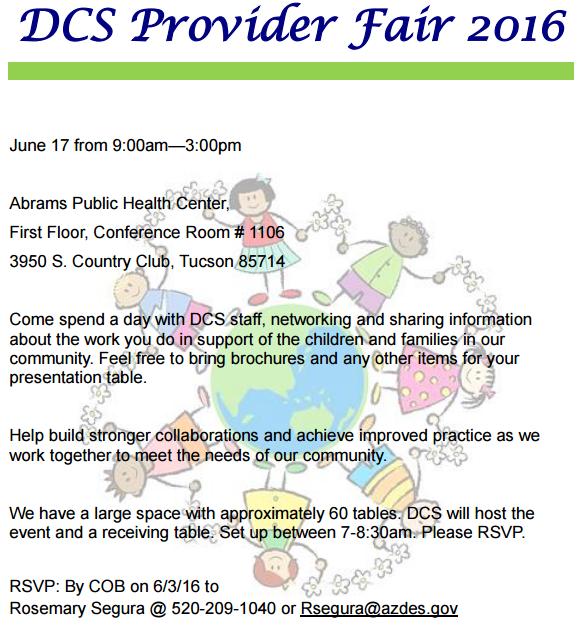 DCS Provider Fair 2016