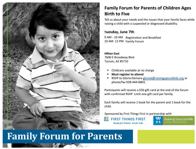 Family Forum flyer