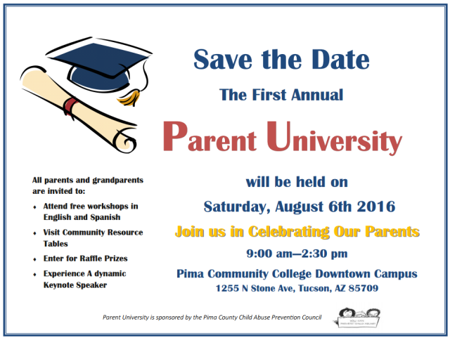 Parent University Save the Date