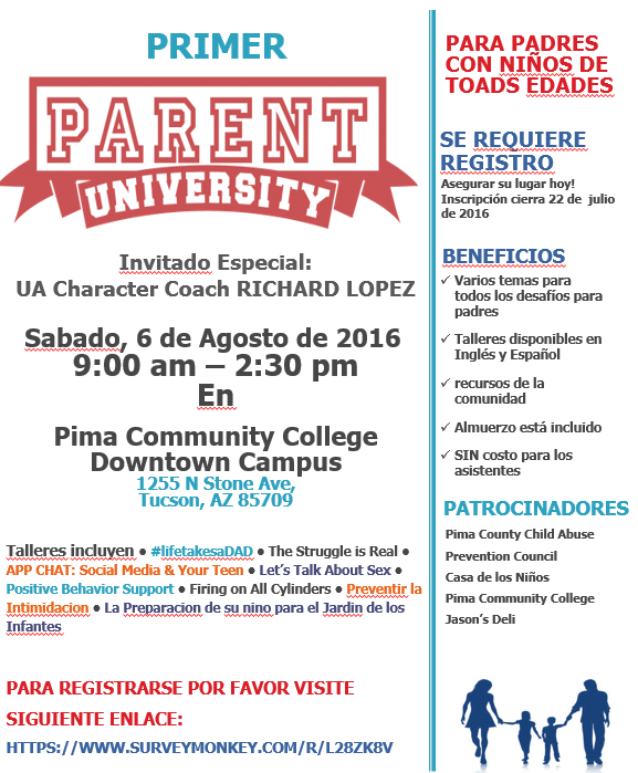Parent University Flyer, Sp.