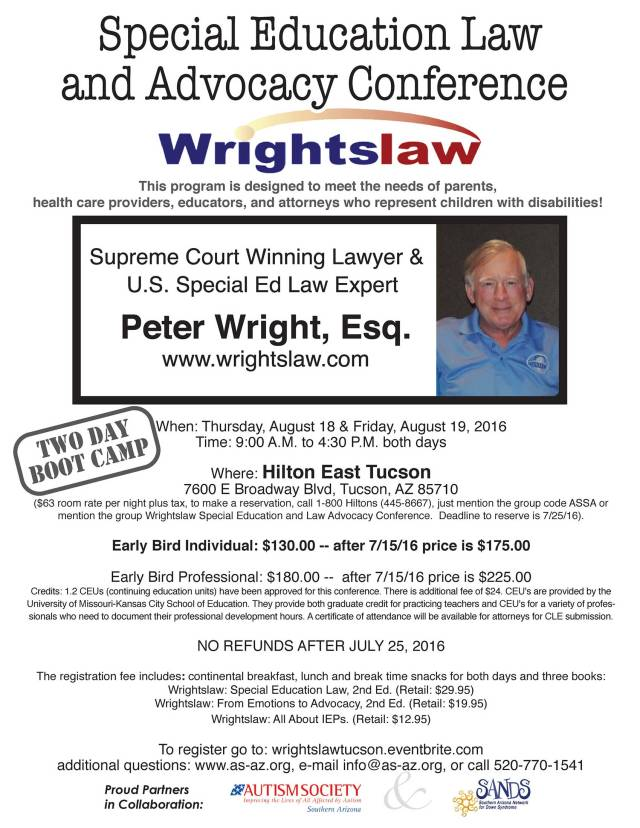 Wrightslaw Conference flyer